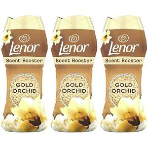 3 x Lenor In Wash Scent Infuse Booster Gold Orchid Beads, 2-in-1 Laundry Pellets