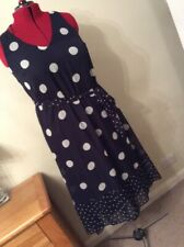 plus sized 18 dress Polka Dots  Navy And White. fabulous.        DB111