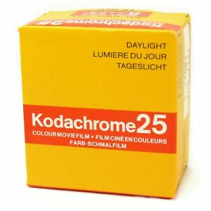 Kodak Kodachrome 25 Double 8mm Cine Film Out Of Date Sealed Old Stock