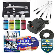 Cake Decorating Airbrush Kit Gravity Feed Air Compressor - 4 Color Set