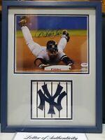 Derek Jeter Autographed Signed 8 x10 Stolen Base Photo Auth PSA/DNA & Steiner