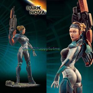 Unpainted 1/32 65MM dark nova Figure Model Resin Female Warrior Garage Kits HOT