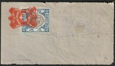 Hong Kong 1912 KGV Revenue Stamp Duty 5c Used on Telegraph Company Cash Receipt