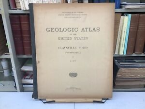 "1912 Claysville, PA Folio: Geologic Atlas Of The United States 21.5 x 18"" Maps"
