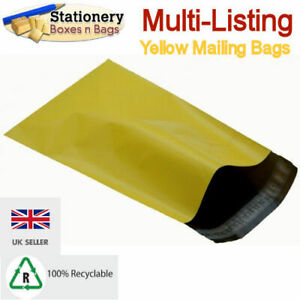 STRONG YELLOW MAILING BAGS - Postage Mailers Plastic Post Polythene *RECYCLABLE*