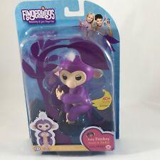 Fingerlings Purple Mia Pet Baby Monkey Interactive Toy By WowWee