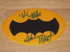 Vintage Batman Adam West Signed Costume Chest Tackle Twill Logo/100% Real!