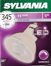 10X 5 W GU10 LED blanco frío Dimmable Sylvania 55 mm 345 LM 4000K ES50 Bombilla