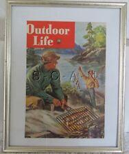 Original Vintage Framed Large (11.75 x 15) Advertising- Fishing- Outdoor Life
