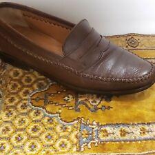 Mens Salvatore Ferragamo Brown Leather LOAFERS SIZE 8D