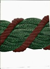 SWAG, BURGUNDY AND GREEN WALLPAPER  BORDER TR71327B