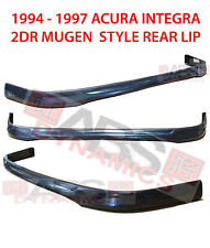 1992 1993 Acura Integra Type R Style Front Lip Black Unpainted ABS Plastic