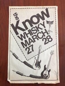 GARY VALENTINE Know Whisky concert poster ex Blondie