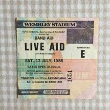 Queen Bowie U2 Live Aid ticket Wembley Stadium 13/07/85 #1651