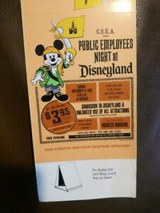 Rare 1969 Disneyland Private Party Night Table Tent Adv NEW Haunted Mansion