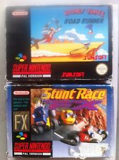 Nintendo Snes 16 Bit Lotto 2 - Road Runner E Stunt Race Fx - Rare Pal Version