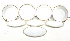 """Set of 8 Thomas Sevres Bavaria Bread & Butter Plates Gold Rimmed on White 6"""""""