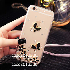 Bling crystal Gems Diamonds Soft ultra thin TPU back Gel Shell Case Cover Skin A