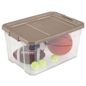 76 Qt. Stacker Box, Taupe Splash