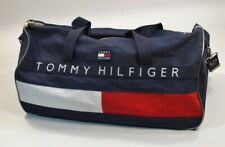 Tommy Hilfiger Flag Spellout Blue Carry On Duffel Duffle Bag Blue Travel Luggage