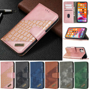 Crocodile Wallet Leather Flip Cover Case For iPhone 12 13 Mini 11 Pro Max XS 6-8