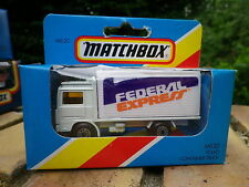 MATCHBOX 81 MB20 VOLVO FEDERAL EXPRESS Neuf boite jamais ouverte scellée