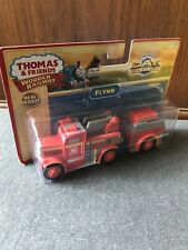 RARE Retired Thomas Wooden Railway Flynn Fire Engine New In Box!