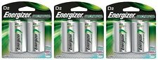 Energizer NH50BP-2 Rechargeable D Nimh Batteries (3 Packs of 2 = 6 Batteries)