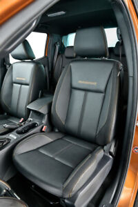 FORD RANGER WILDTRAK T7 T8 BLACK LEATHER FRONT+REAR INTERIOR SEATS (2016-21)