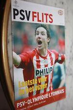 PROGRAMME )) PSV EINDHOVEN V LYON OL )) Saison 2004/2005 Champions League