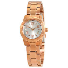 Guess Silver Dial Ladies Rose Gold-tone Watch W0572L4