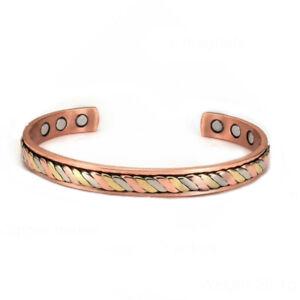 Bracelet magnétique cuivre avec 6 aimants  Anti-Douleurs Rhumatisme Arthrose