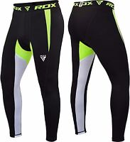 RDX Compression Pants Base Layer Skin Tights Running yoga Workout Gym Sports AU