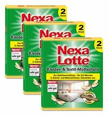 Sparset: 3 X Nexa Lotte Kleider- & Textil-Mottenfalle, 2 Pièce