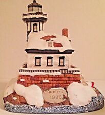 "-MINT- IN BOX-SIGNED- LE#3511""HARBOR LIGHTS COLCHESTER REEFS"" #701 XMAS 1996"