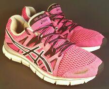 Womens sz 8 Asics gel-blur33 Athletic Running Sneakers Shoes black pink nice!