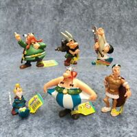 LOT DE 6 FIGURINES ASTÉRIX OBÉLIX PANORAMIX CÉSAR JOUET COLLECTION