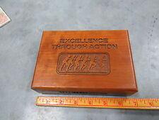 Mahogany Presentation Box CASE Poclain Tractor Equipment Pyroform ENGLAND Rare