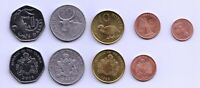 Coins: Gambia Set of 5 Coins, 1 5 10 25 Bututs 1 Dalasi, 1998-2014, UNC