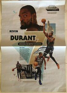 (10) 2021 Sports Illustrated Kids Kevin Durant Brooklyn Nets Mini Poster Lot
