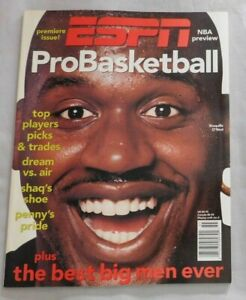 1995 Premiere Issue ESPN Basketball SHAQUILLE ONEAL
