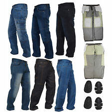 Men's Motorbike Jeans Motorcycle Denim Trousers with Aramid Protective Lining