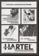 catalogo HARTEL 1995 Strassenbahn und HO Gleis-System           D             aa