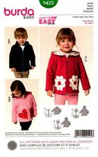 Burda Sewing Pattern 9425 Burda Kids Jackets Hoodies Sizes 18M-7