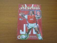 Arsenal v Sheffield Wednesday - FA PL - Season 1996 - 97 (VGC).