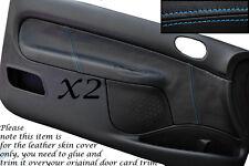 Punto azul se adapta a Peugeot 206 Cc & 3 Puertas 98-10 2x Puerta Tarjeta Cuero cubre sólo
