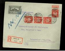 1926 Berlin Germany Register Cover