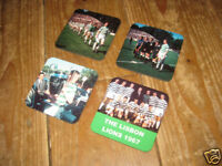 Celtic The Lisbon Lions 1967 COASTER Set European Cup