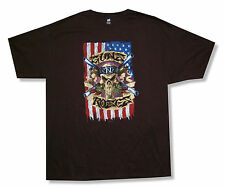 "GUNS N' ROSES - DISTRESSED ""SKULL FLAG"" BLACK T-SHIRT NEW OFFICIAL ADULT 2XL XXL"