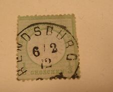 SCOTT#2  GERMANY 1872 1/3  GR USED